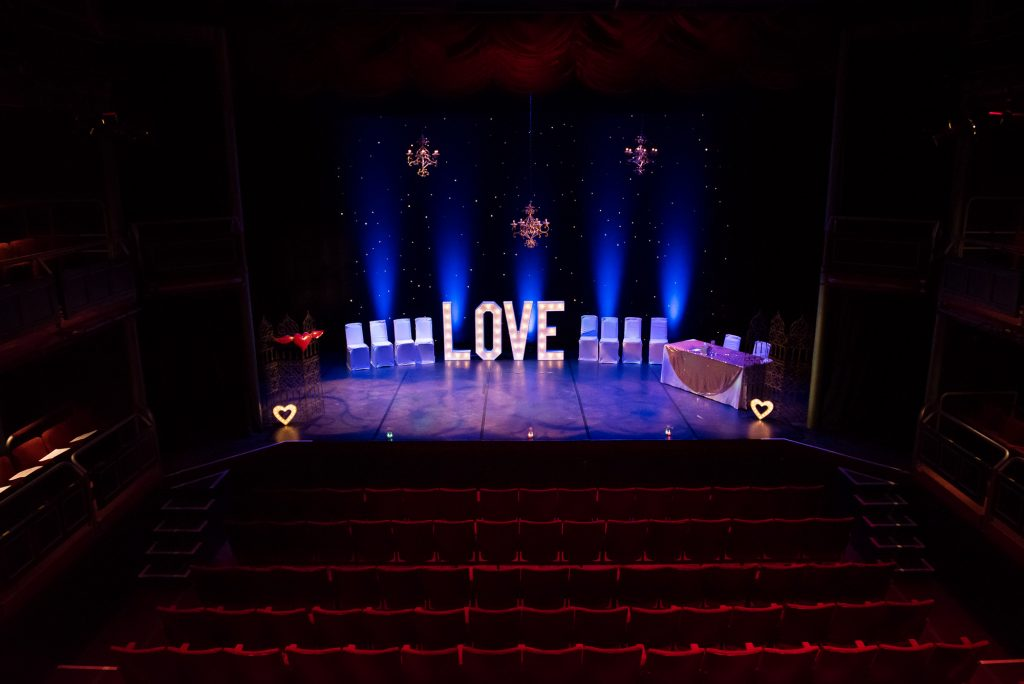 Wilde Theatre cool wedding venue Bracknell