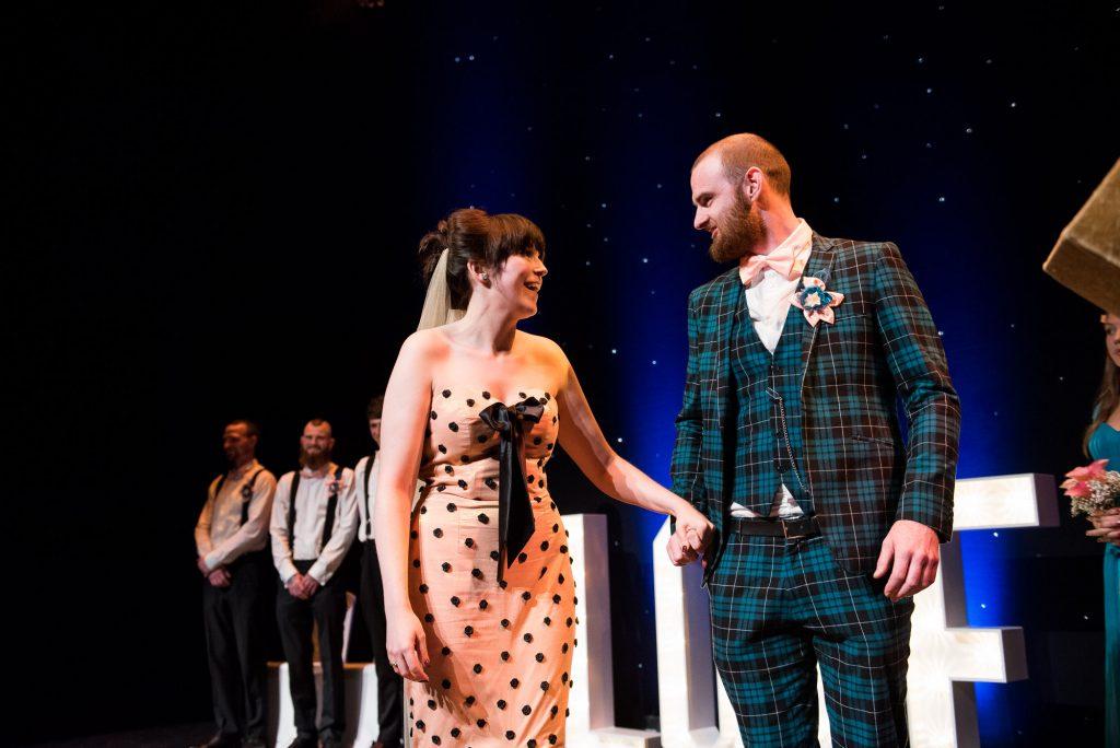 Punk inspired wedding - Alternative wedding ceremony Wilde Theatre Berkshire
