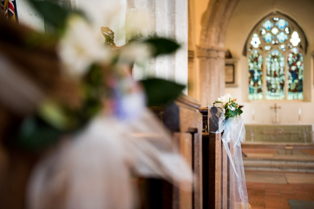 Natural church wedding decor