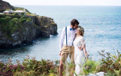 Cornwall Wedding Photography – Coastal Cornish Wedding – Becky + Andy