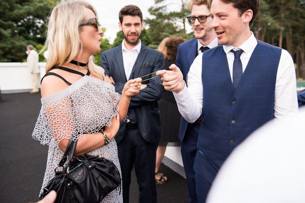 Wedding guests at Wilde Theatre Berkshire wedding