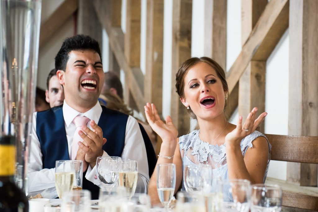 Fun wedding speech reactions