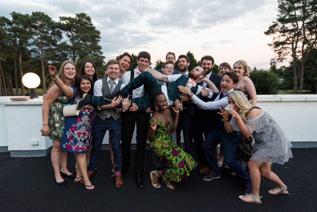 Punk inspired wedding - Fun group wedding photography Berkshire