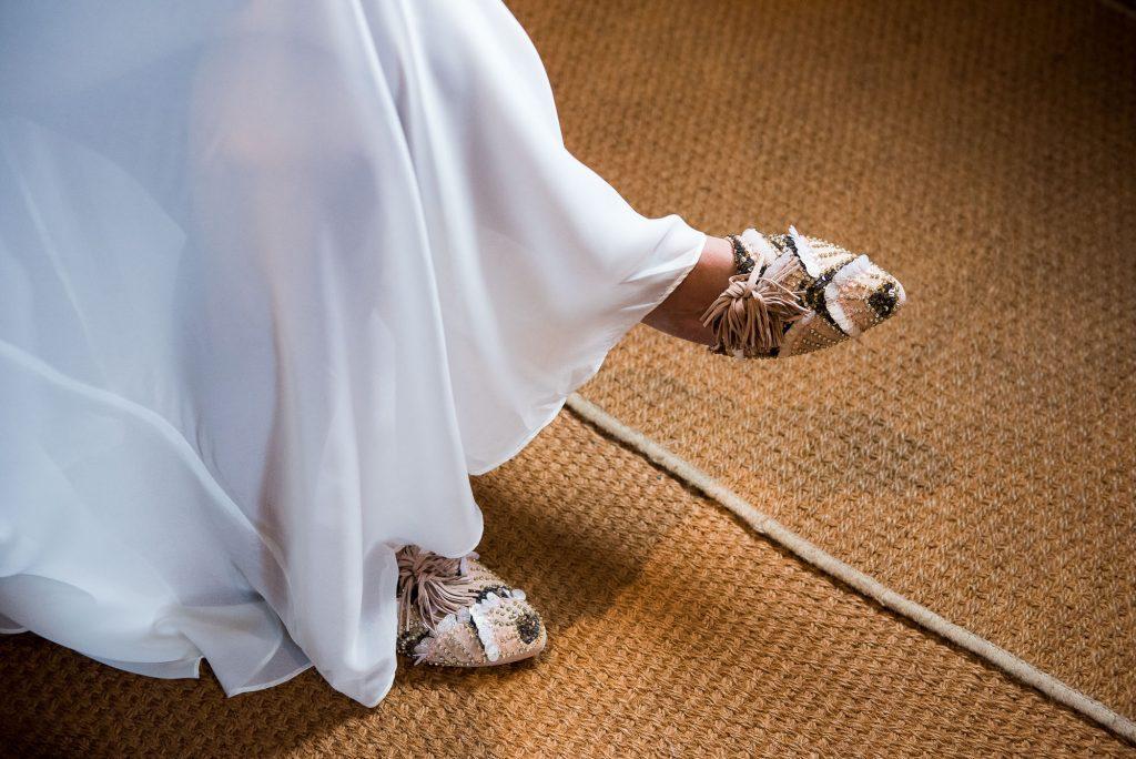 Beaded Carvela bridal shoes Norfolk pre wedding photography
