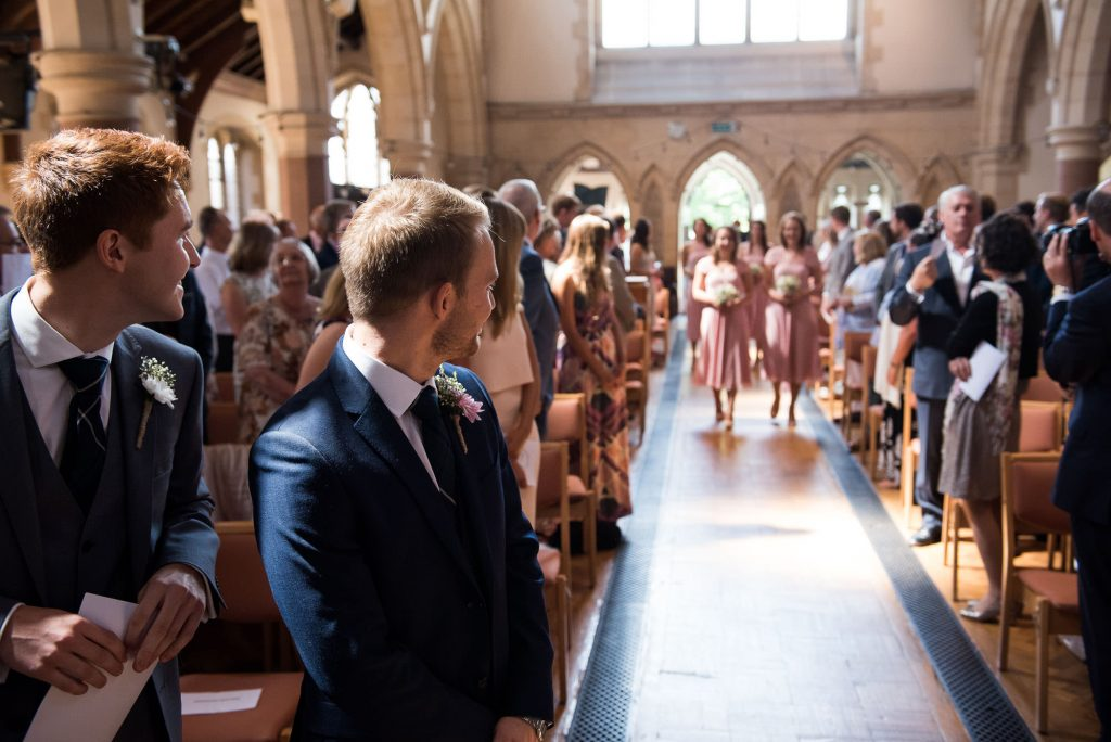 Elegant church wedding photography Surrey