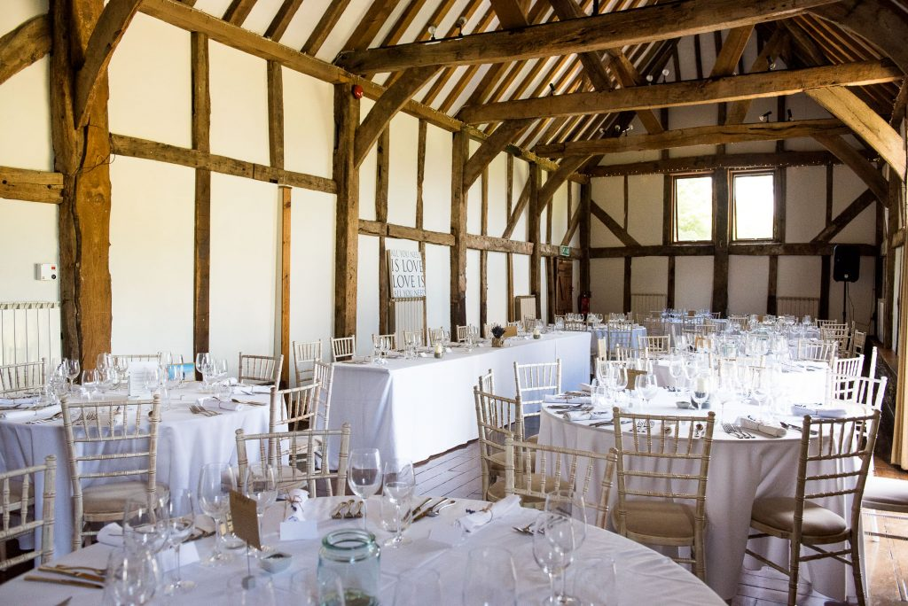 Surrey barn wedding Loseley Park