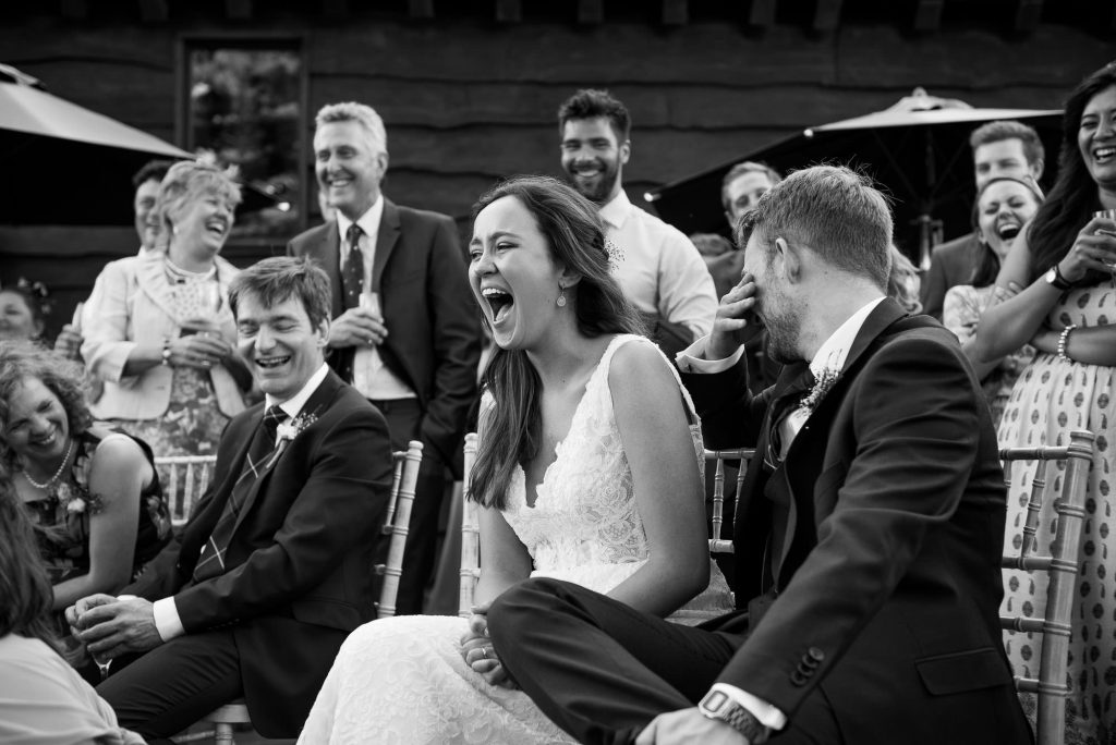 Funny wedding speech Surrey Barn wedding