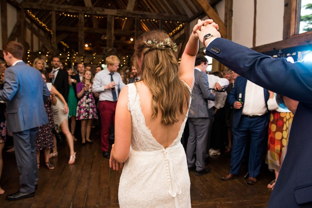 Bride and groom take to the dance floor