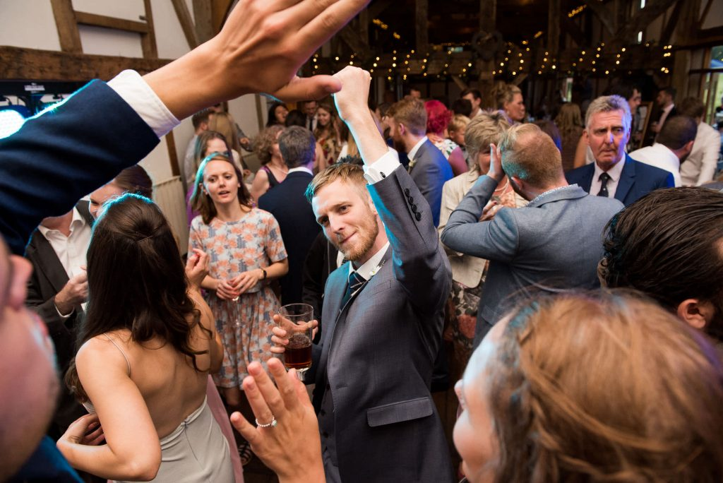 Lively dance floor wedding photography Surrey