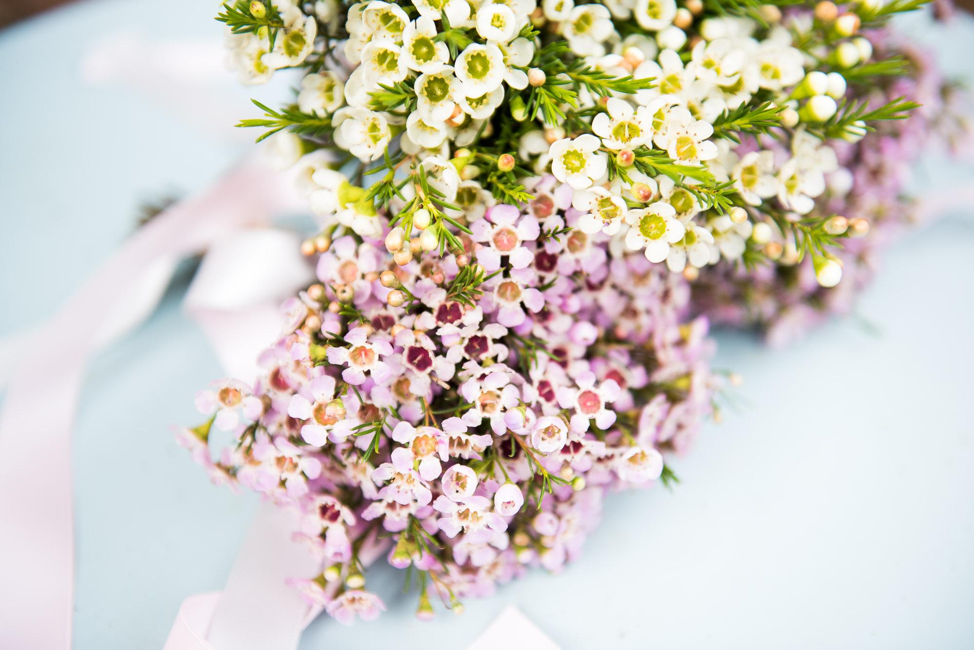12 Wax flower flower girl bouquet