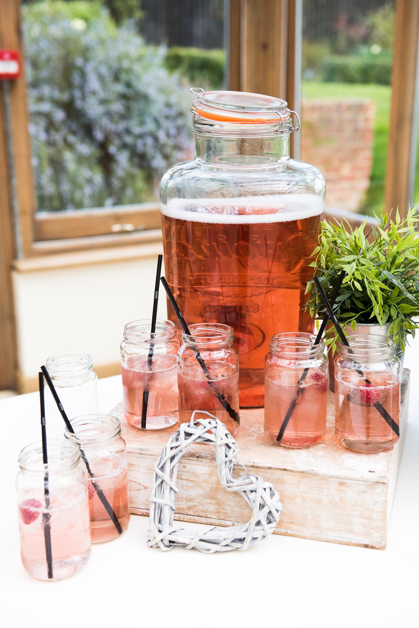 Cute vintage drinks with mason jar glasses