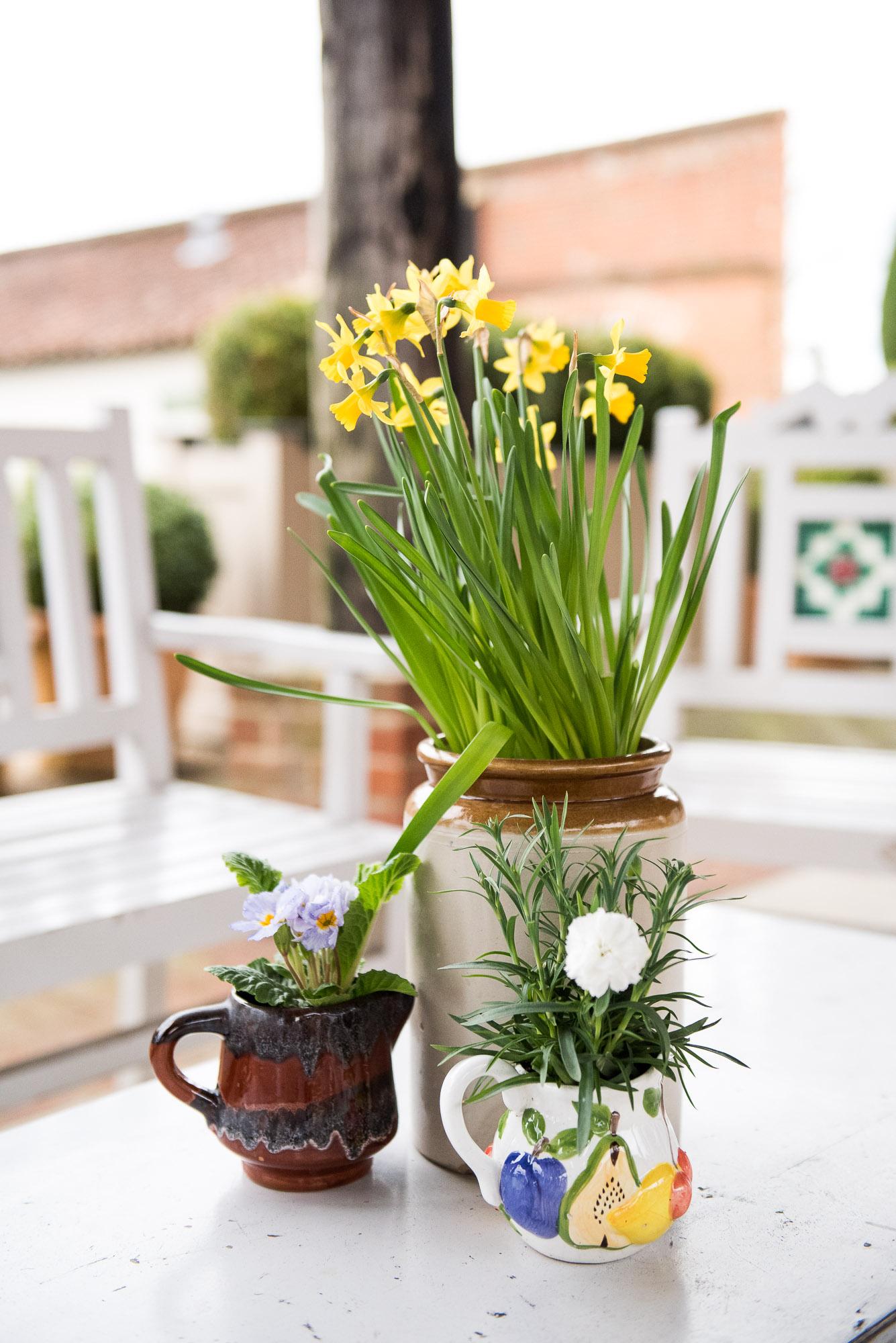 Spring flowers for Essex wedding
