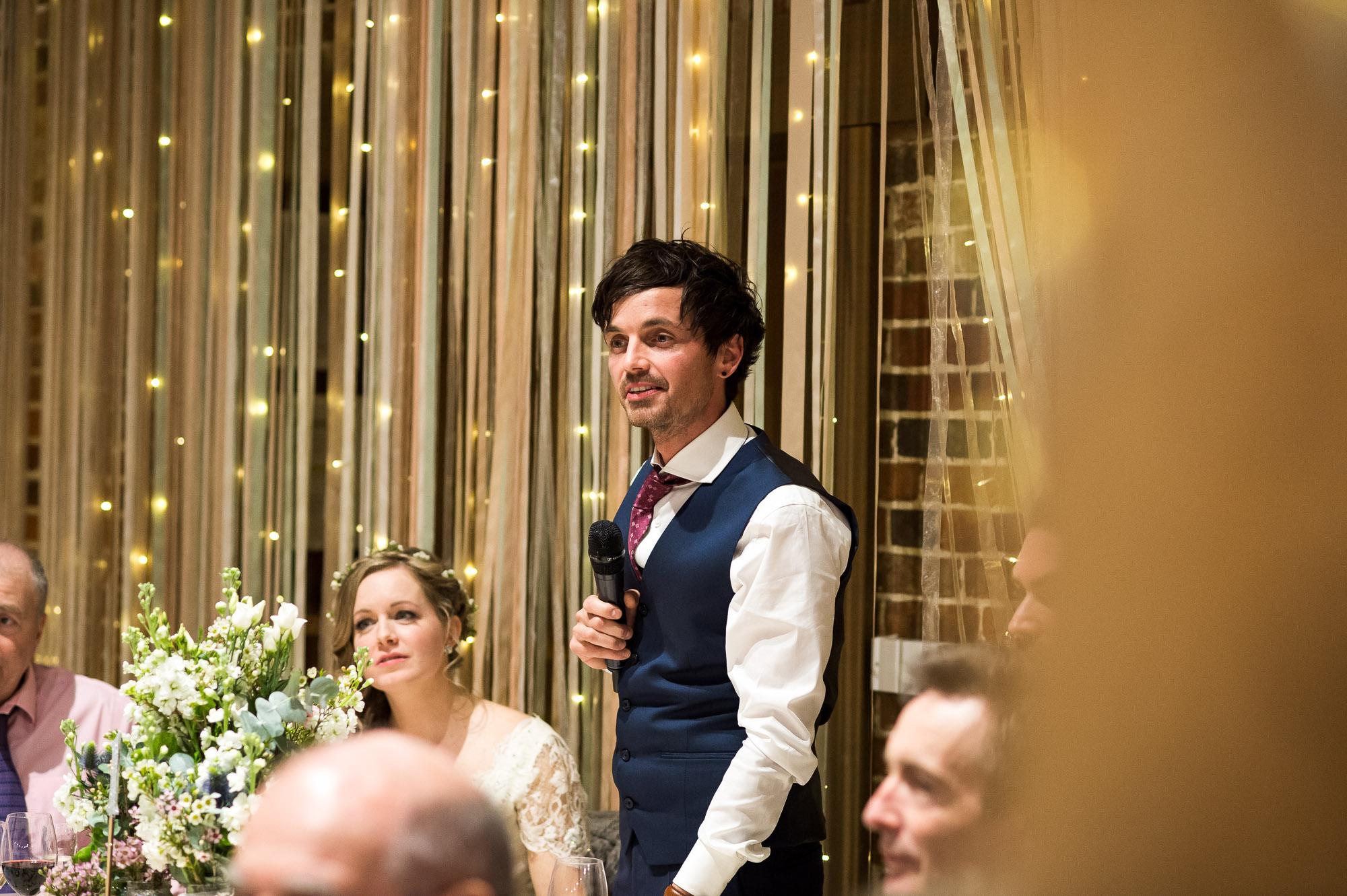 Grooms wedding speech Essex Barn wedding
