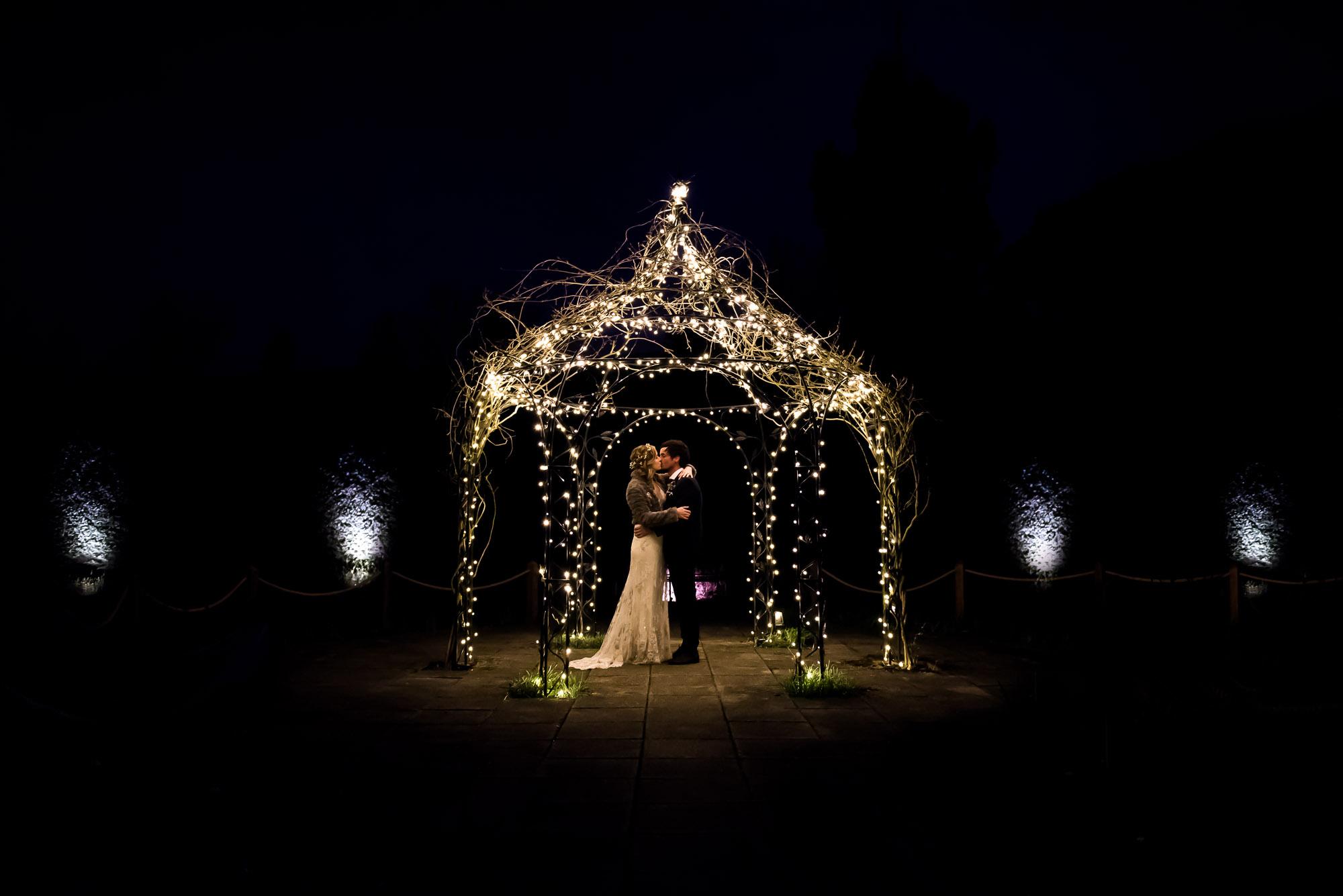 creative night time portrait Essex Barn Wedding