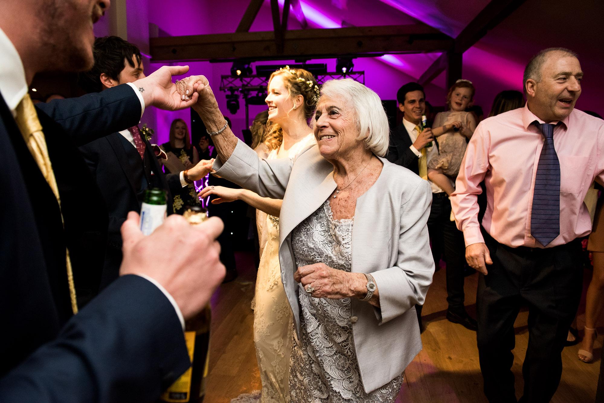 Guests Dancing Essex Barn wedding