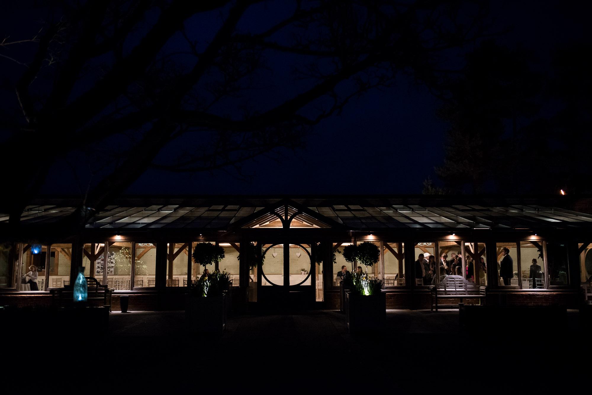 night time venue Essex Barn Wedding