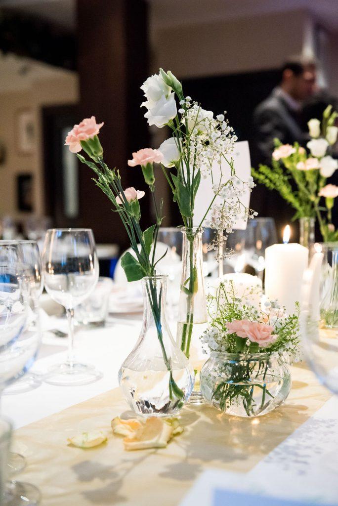 White floral arrangements London wedding