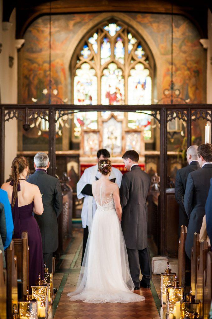 Ashridge House Wedding. Natural Wedding Photography. Church service wedding.