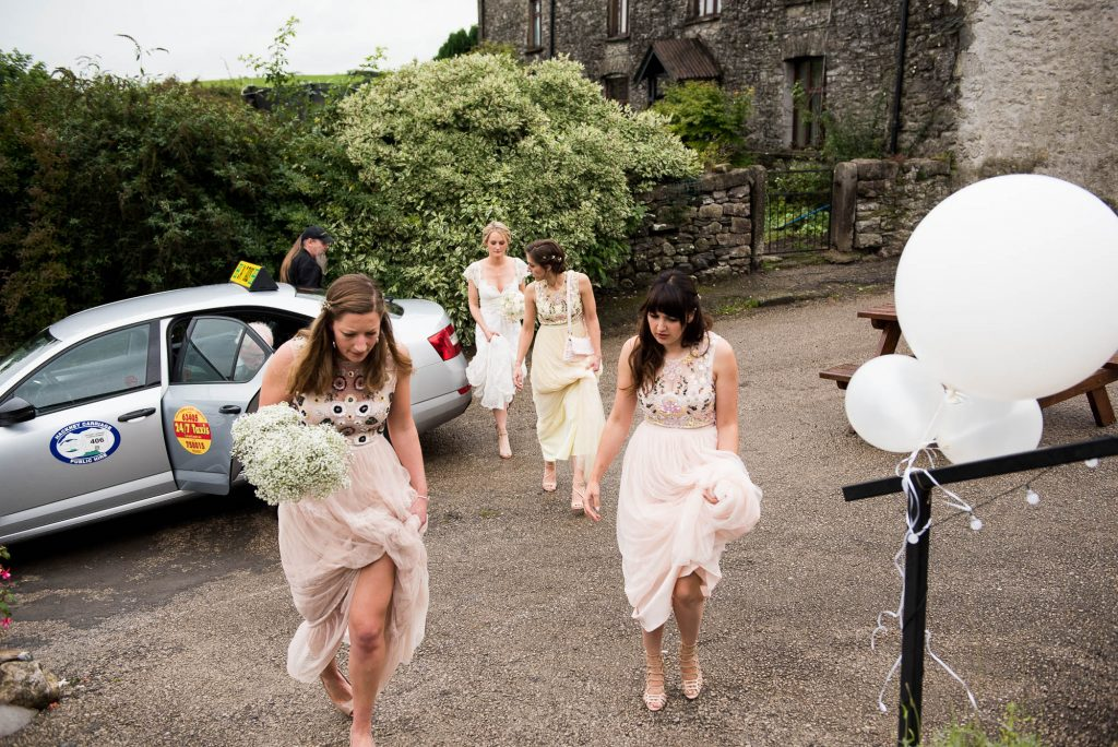 Park House Barn, Rustic Barn Wedding, Needle and Thread Bridesmaid Dresses