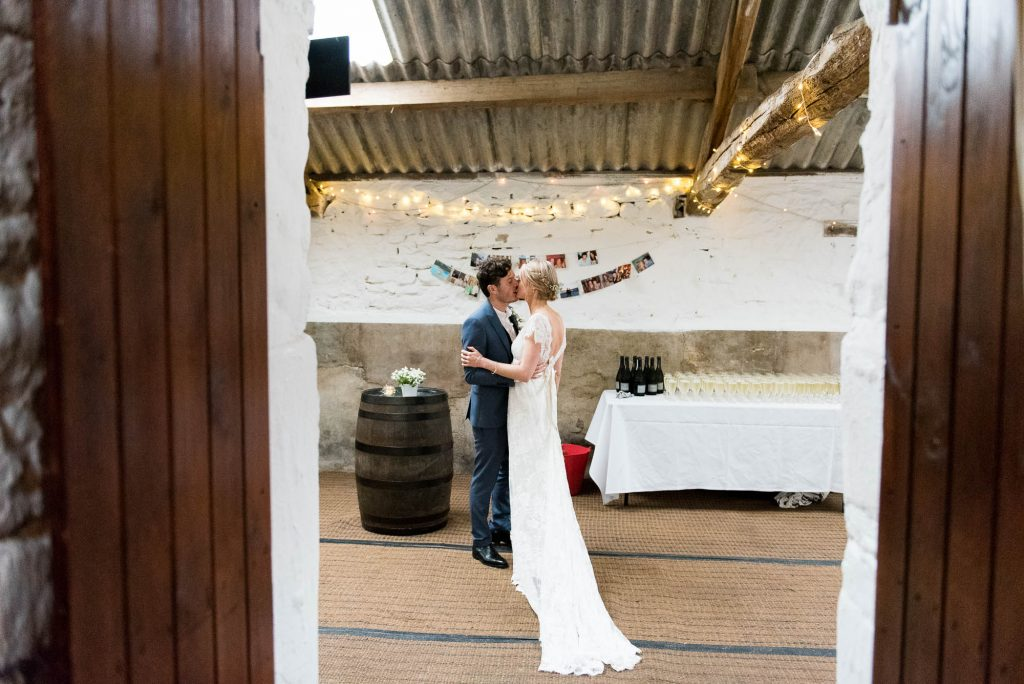 Park House Barn, Rustic Barn Wedding, Natural Wedding Photography Candid Moment Between Bride and Groom