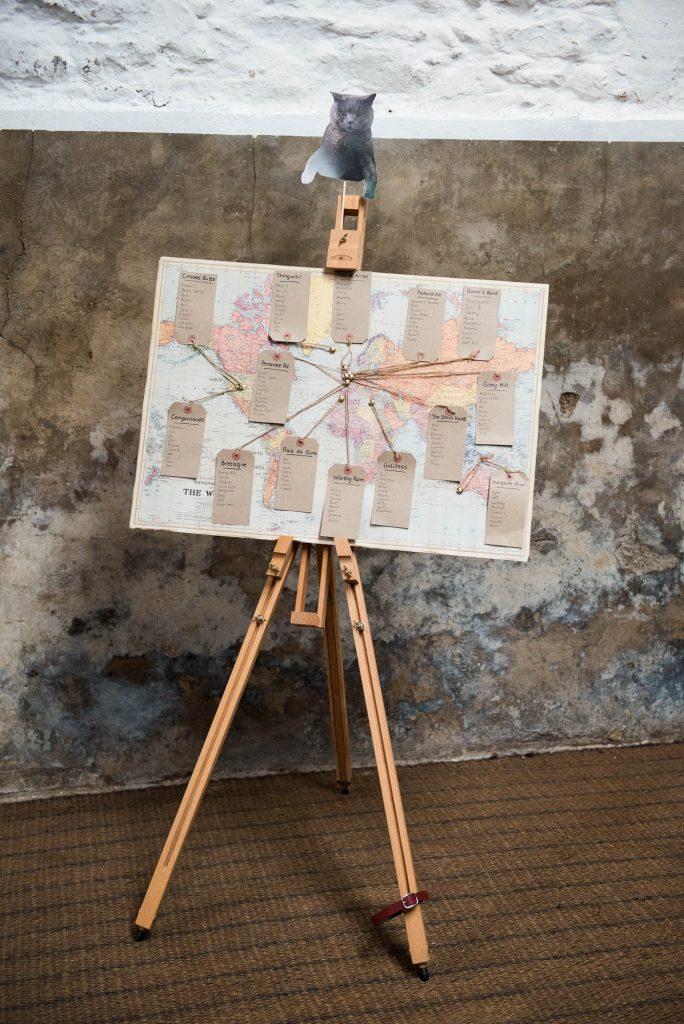 Park House Barn, Rustic Barn Wedding, Home Made Map Seating Plan