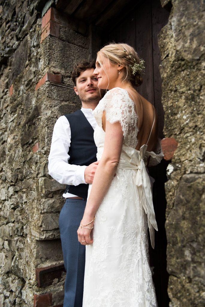 Park House Barn, Rustic Barn Wedding, Anna Campbell Bride with Groom