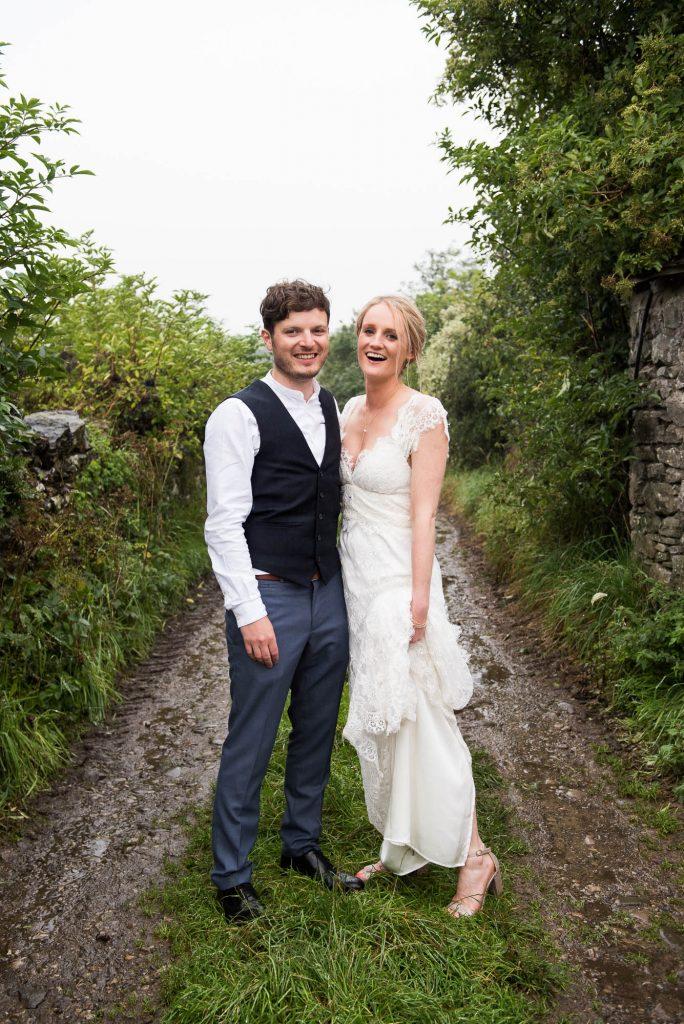 Park House Barn, Rustic Barn Wedding, Anna Campbell Bride and Groom Natural Wedding Photography