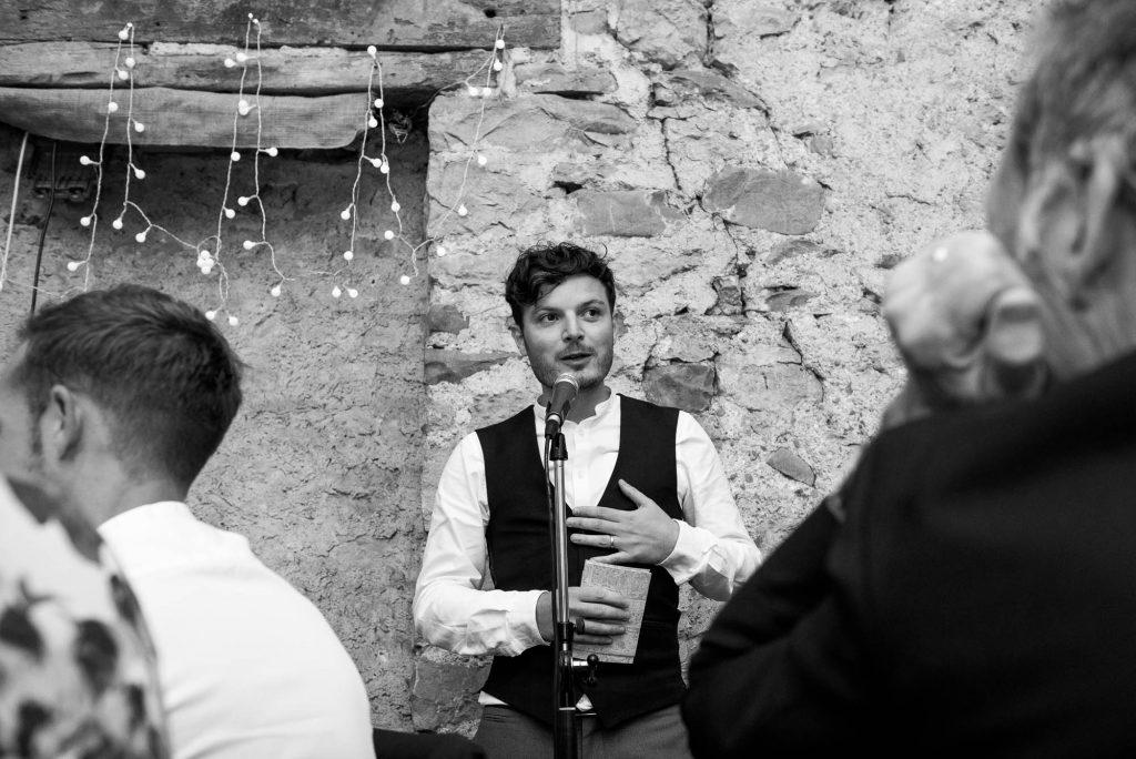 Park House Barn, Rustic Barn Wedding, Groom Delivers His Wedding Speech
