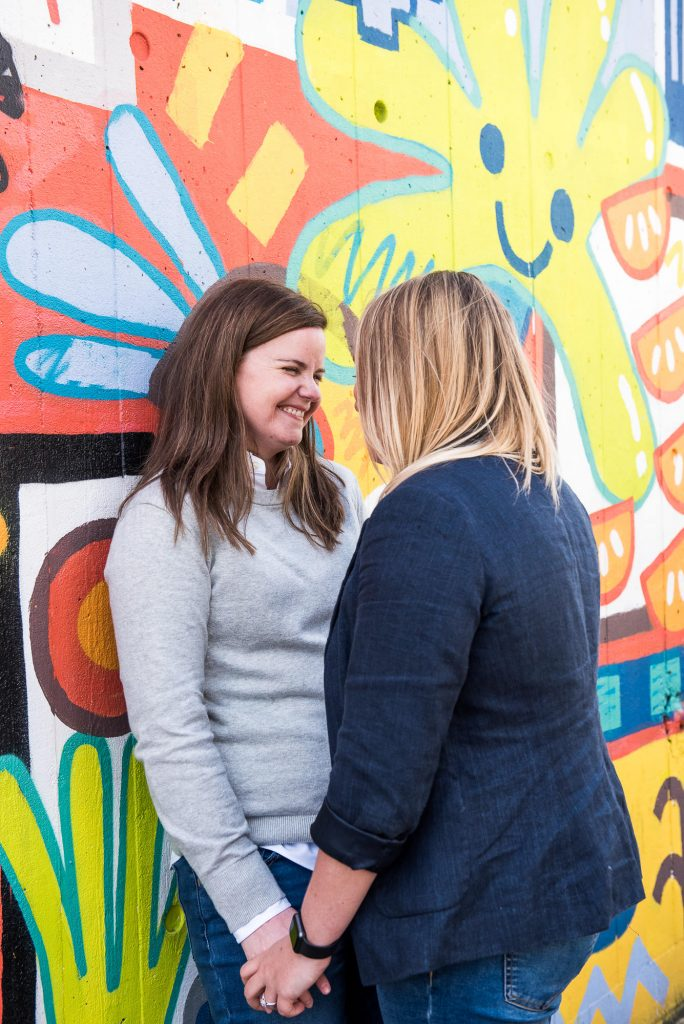 Southbank Engagement shoot, LGBT Engagement Shoot Photography, creative couples photography with London street art