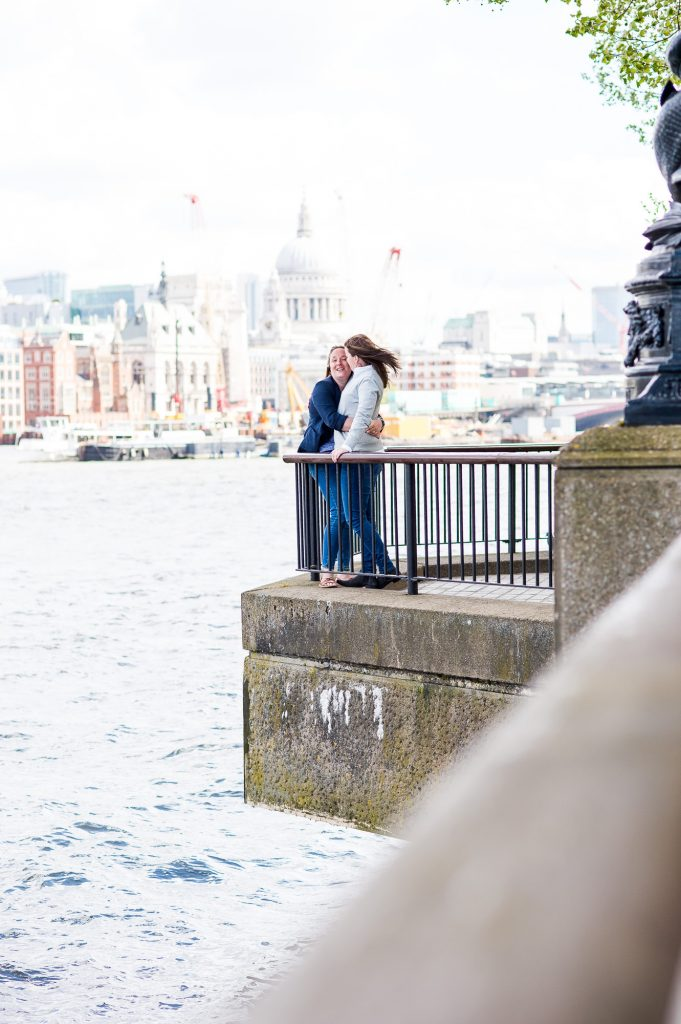Southbank Engagement shoot, LGBT Engagement Shoot Photography, natural couples photography by the London River Thames