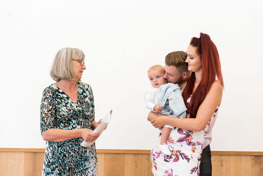 Naming Day Ceremony. Essex Family Photography. Family Blessing During the Naming Ceremony.