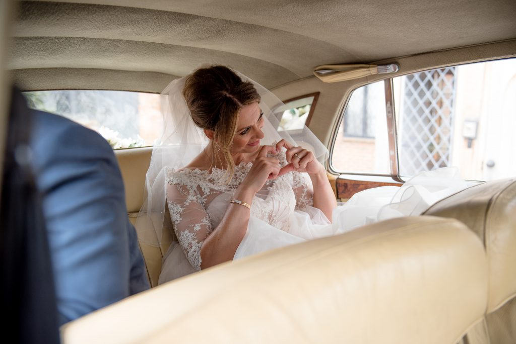 Great Fosters. Natural Wedding Photography. Natural Moment With The Bride.