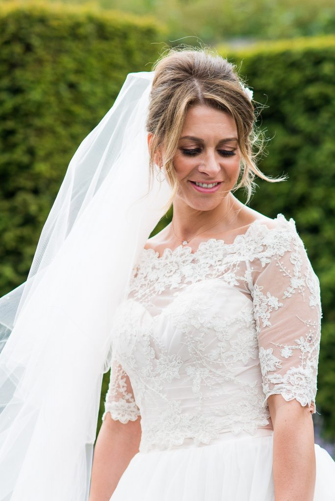 Great Fosters. Natural Wedding Photography Surrey. Ellis Bridal Bride Portrait.