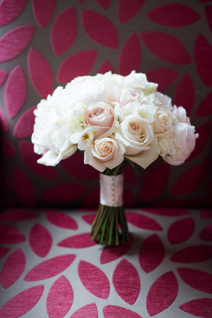 Great Fosters. Natural Wedding Photography. Bridal Bouquet White Rose Florals.