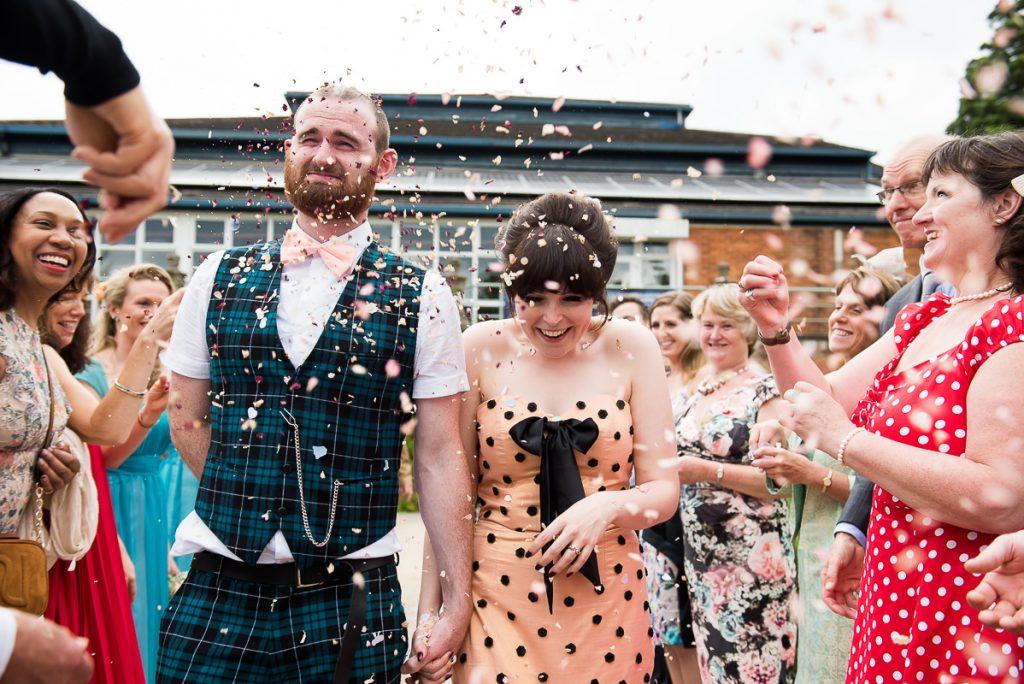 Wedding Confetti, Wedding Planning Advice, Fun confetti wedding portrait