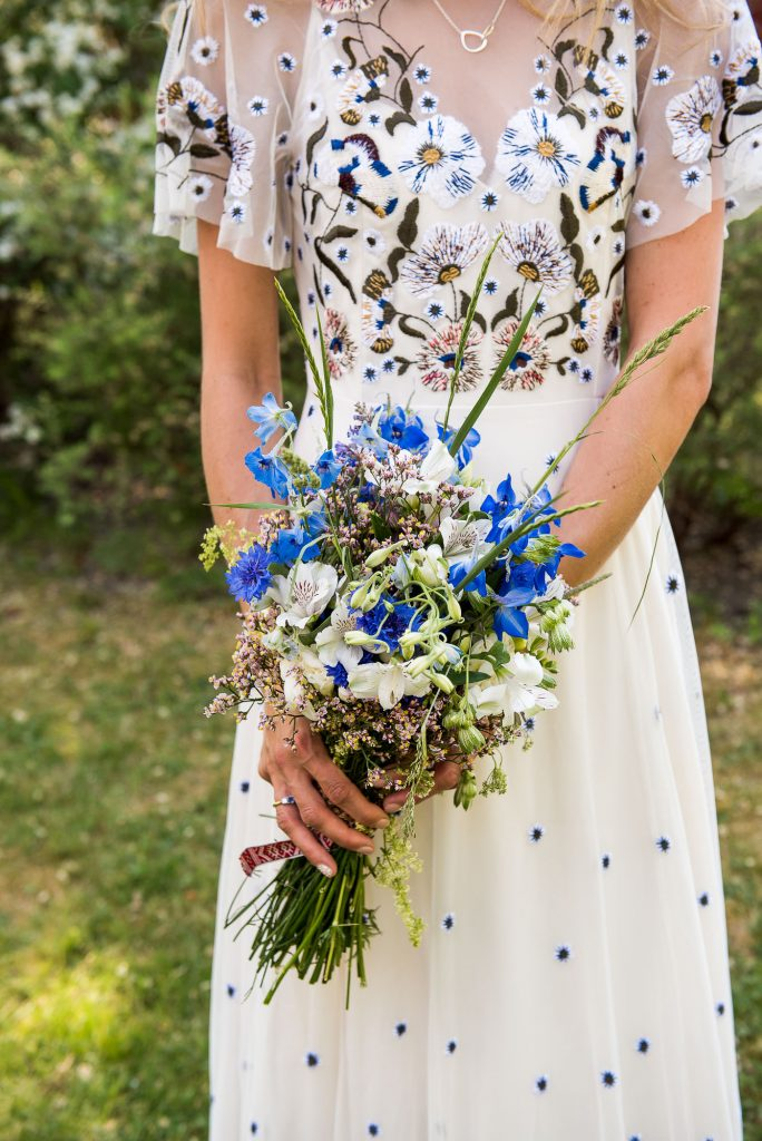 Eco Friendly Wedding, Bride with Homemade Wildflower Bouquet, Wedding Advice