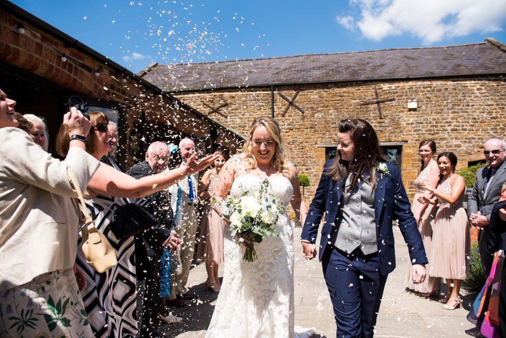 Wedding Confetti, Fun Documentary Wedding Photography Surrey, Alternative Wedding Confetti Ideas Flower Petal Confetti