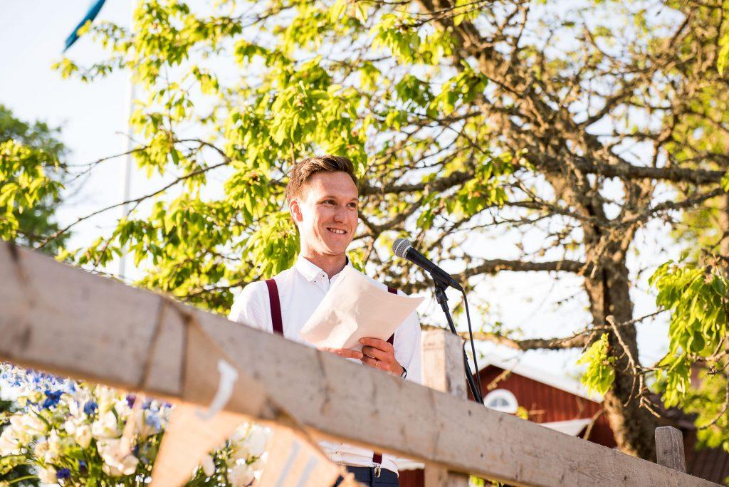 Swedish Wedding - Kroksta Gard Wedding - Speeches At The Wedding Reception