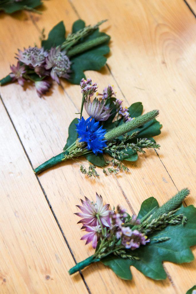 Destination Wedding Photography Sweden - Home made wildflower button holes
