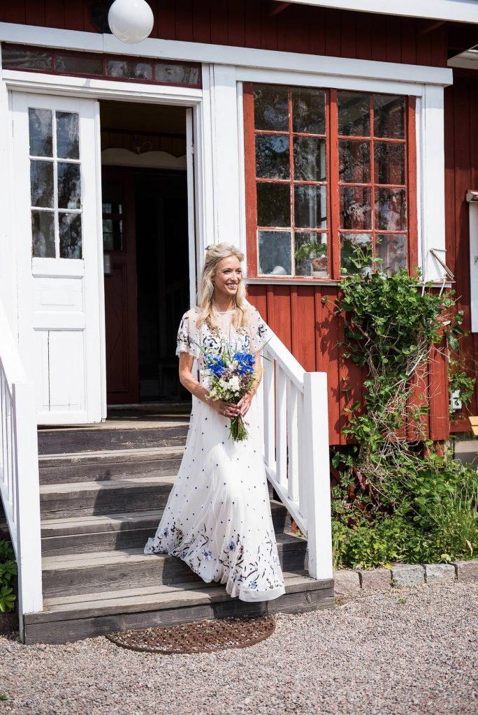 Swedish Wedding - Kroksta Gard Wedding - First Look Reaction
