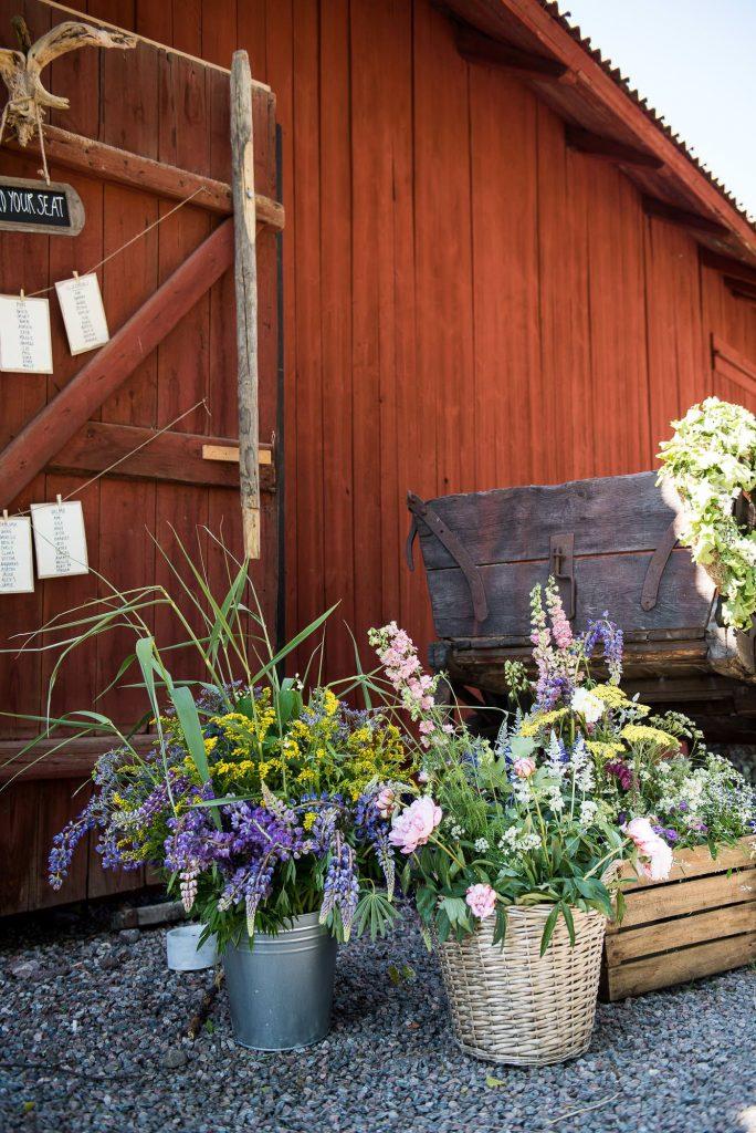 Swedish Wedding - Kroksta Gard Wedding - Home Made DIY Wedding Flowers