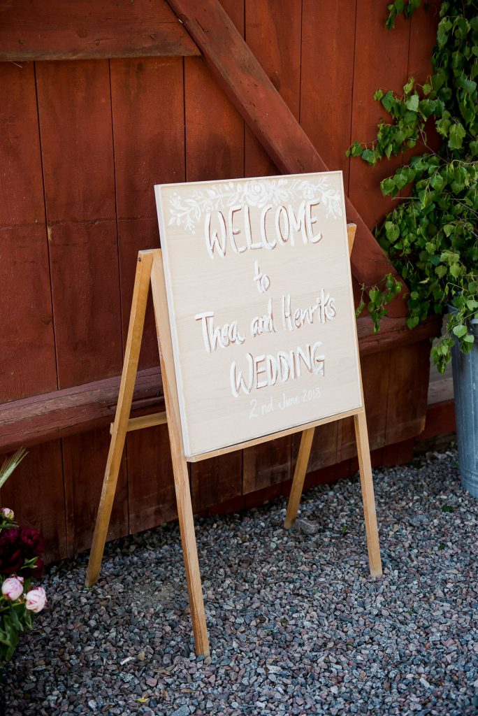Destination Wedding Photography Sweden - Home made wedding sign