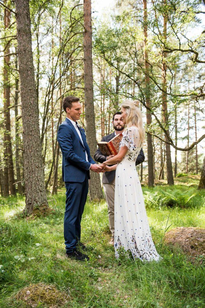 Destination Wedding Photography Sweden - Outdoor Woodland Ceremony