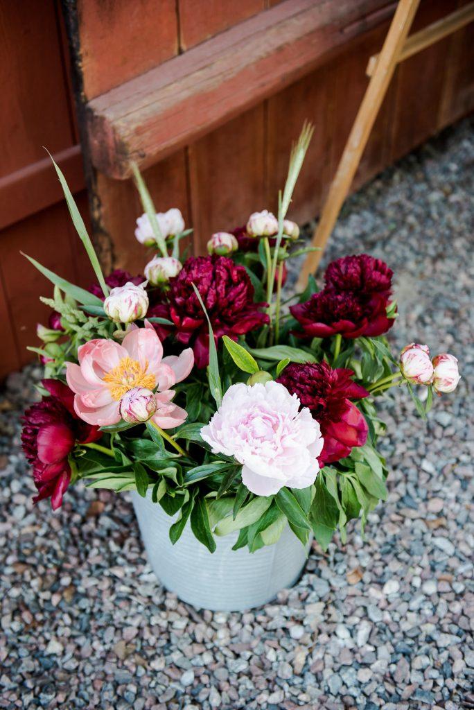 Swedish Wedding - Kroksta Gard Wedding - Home Made DIY Wild Wedding Flowers