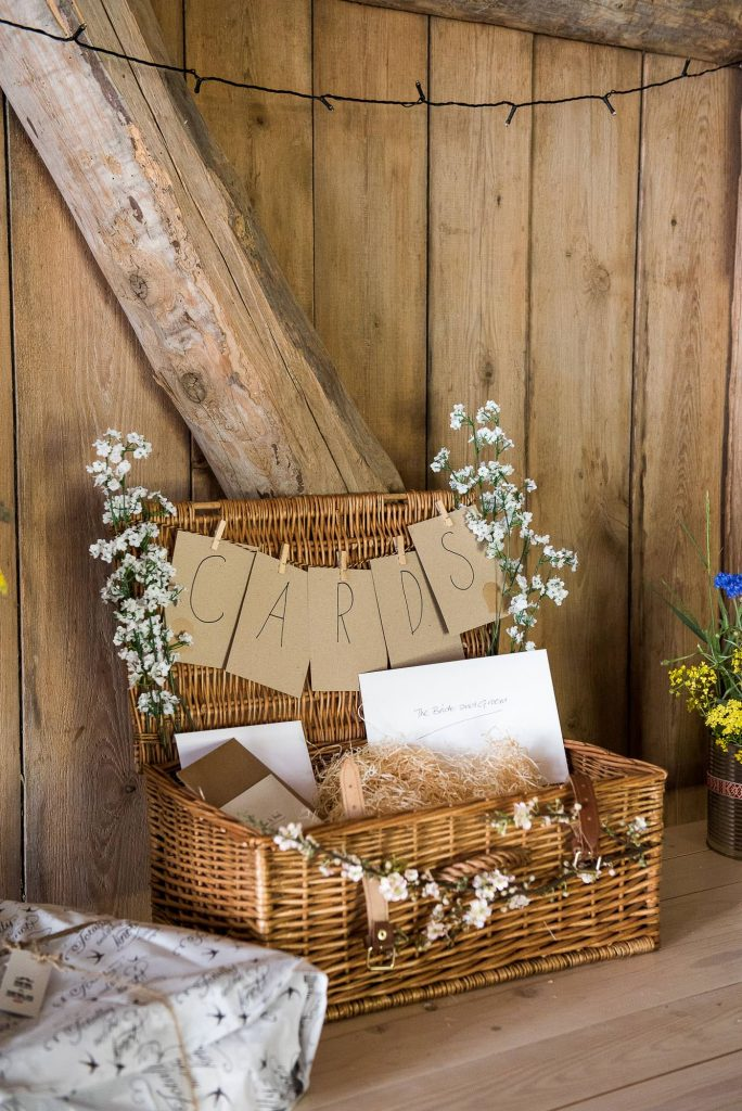 Destination Wedding Photography Sweden - Home made wedding gift and card table