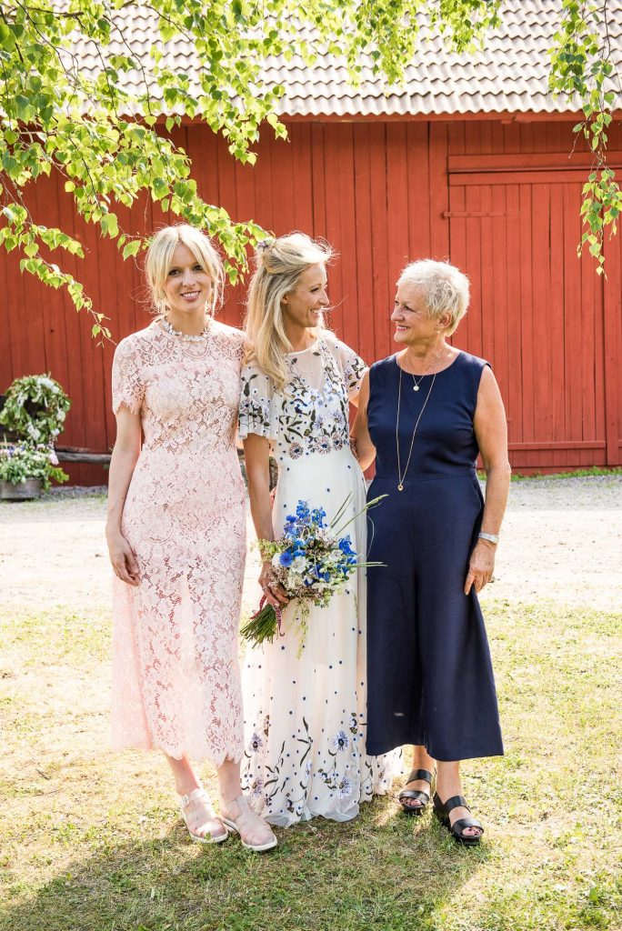 Destination Wedding Photography Sweden - Mother and daughter family portrait