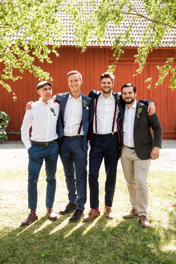 Destination Wedding Photography Sweden - Natural Groomsmen Portrait