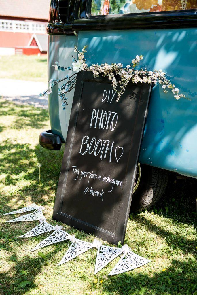 Destination Wedding Photography Sweden - Home made wedding photobooth