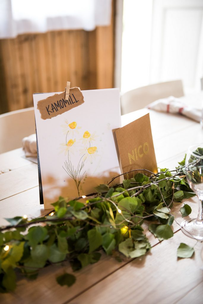 Destination Wedding Photography Sweden - Hand Made Table Settings