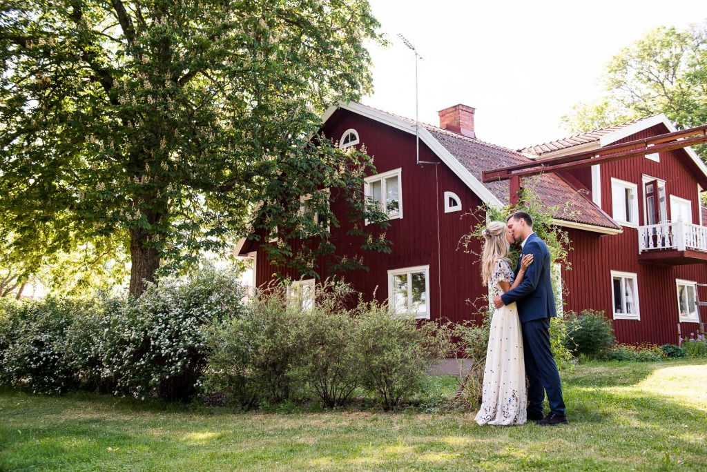 Swedish Wedding - Kroksta Gard Wedding - Natural Couples Portrait